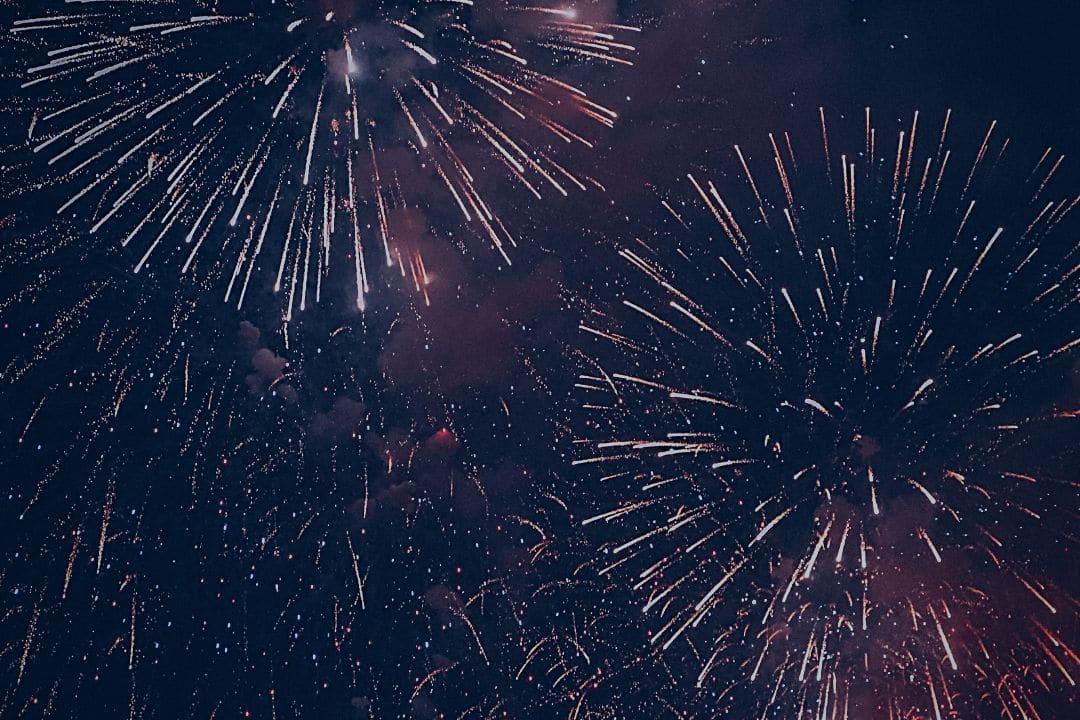 sky full of fireworks