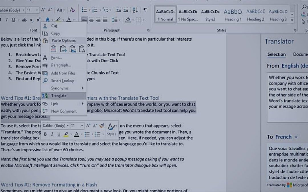 5 Awesome Word Tips to Make Document Creation a Breeze
