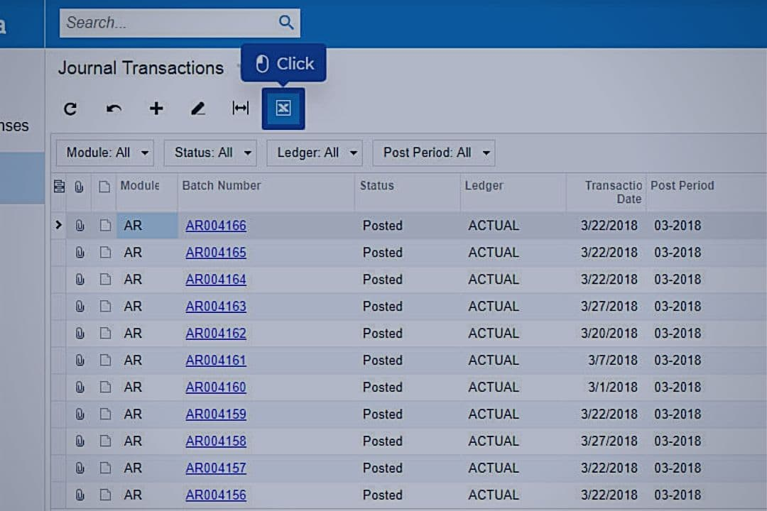 Export Data to Excel with Acumatica