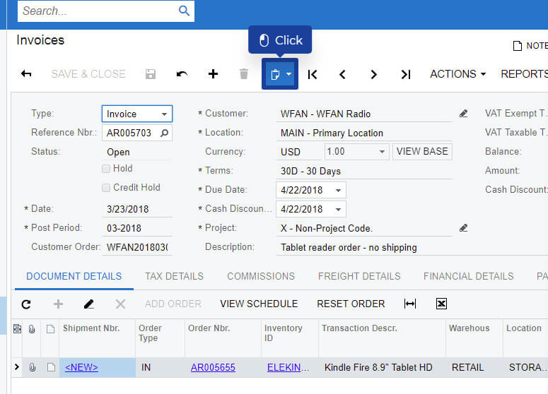 Acumatica Pro Tip: Recreate a Document Fast Using an Acumatica Template