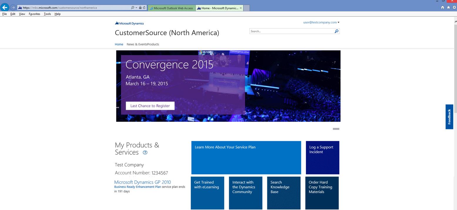 Customer Source Homepage