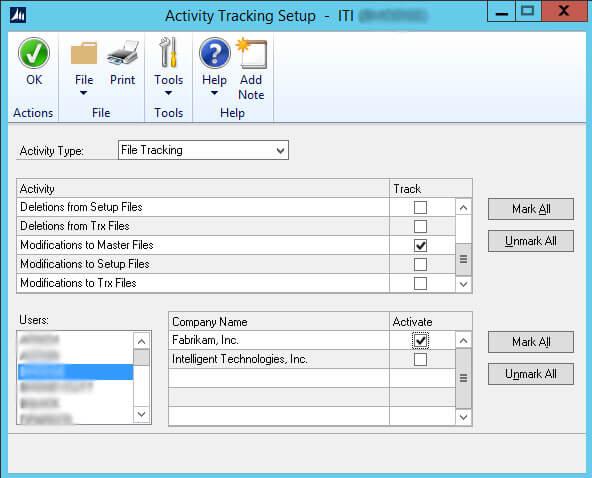 Dynamics GP File Tracking