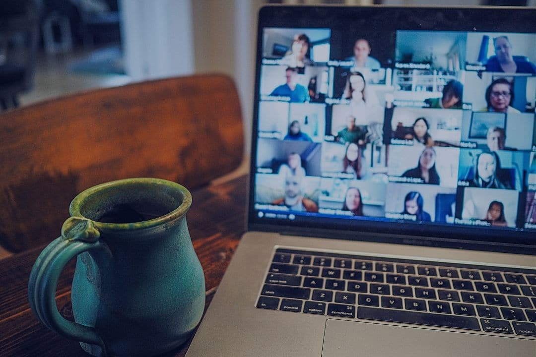 Virtual meeting with many participants