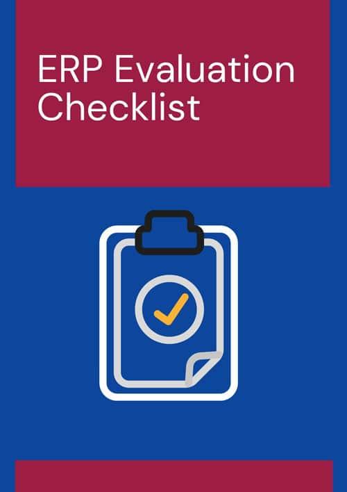 ERP solution checklist cover