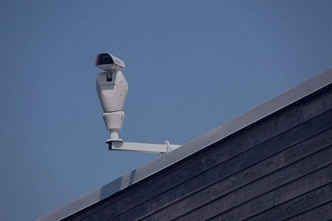 camera attached to the wall