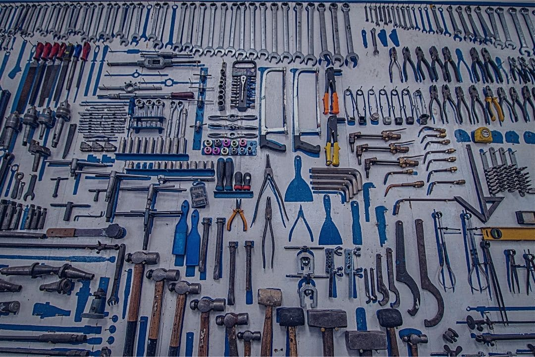 tools laid out